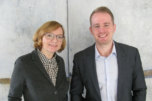 Foto: von links, Kulturmanager Anja Czioska und Christian Reiling