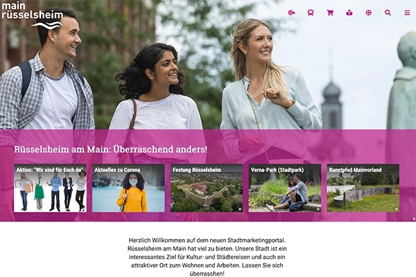 Foto: Neue Stadtmarketing-Website (Foto: Stadt Rüsselsheim am Main)
